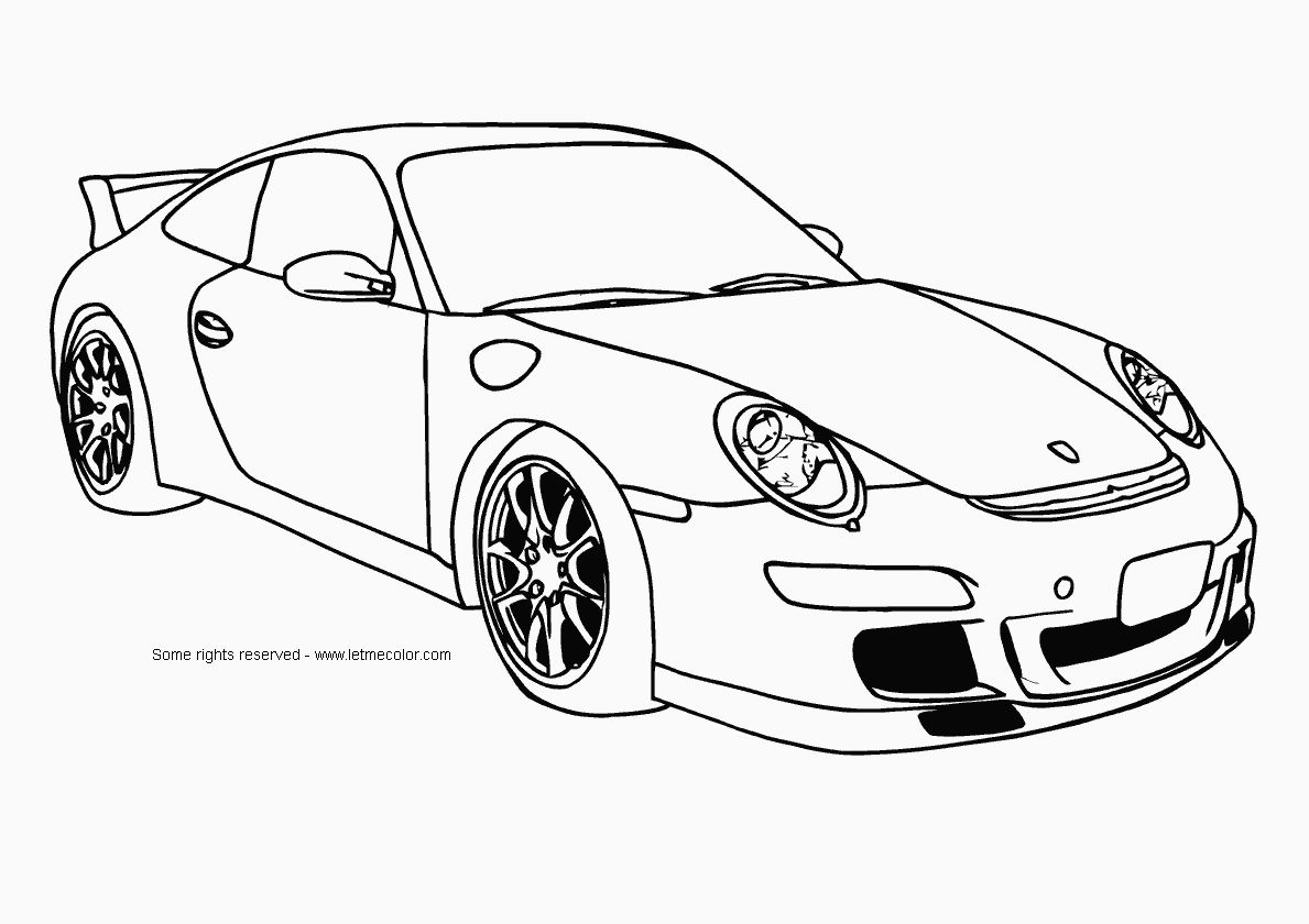 Online 25 sports car coloring pages for children 14 printable coloring