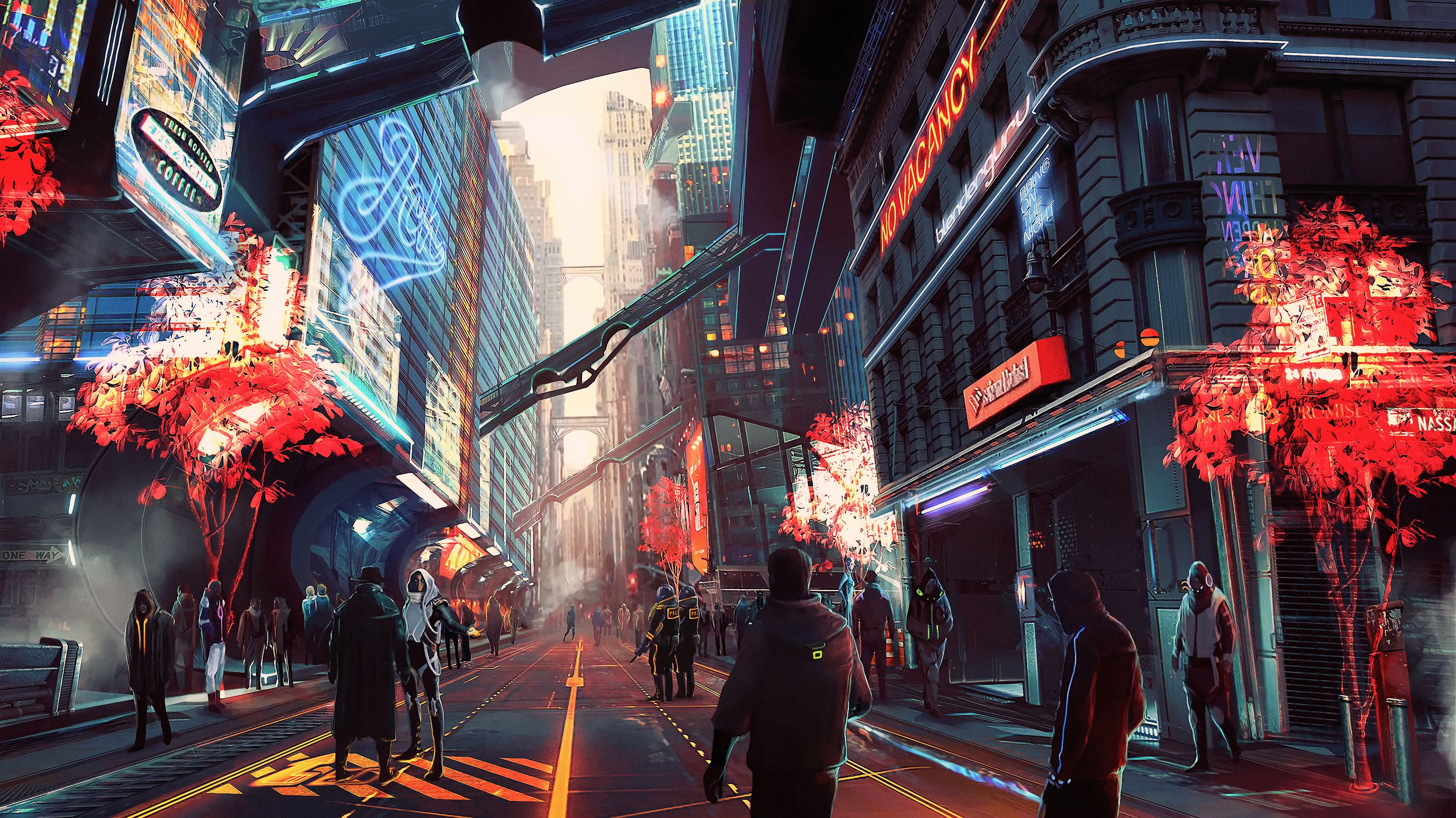 Cyberpunk City Future Digital Art 4k Hd Wallpapers Digital Art Wallpapers Cyberpunk Wallpapers City Wallpapers A In 2020 Cyberpunk City Sci Fi City Futuristic City