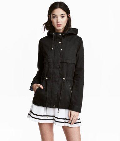 Short Hooded Parka | Black | Women | H&M US | My Style