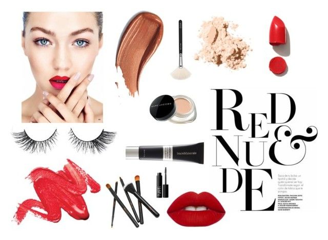 """""""Beauty page"""" by borkakramarska ❤ liked on Polyvore featuring beauty, Bobbi Brown Cosmetics, ZOEVA, NARS Cosmetics, Lime Crime, Bare Escentuals and Marc Jacobs"""