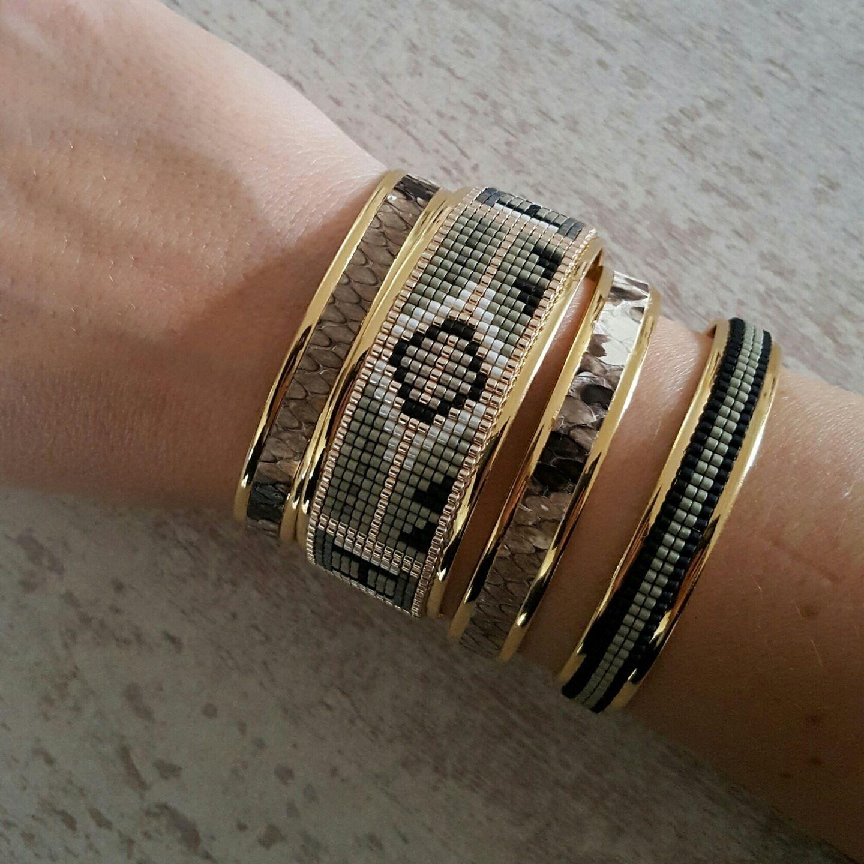 Bracelet large perle