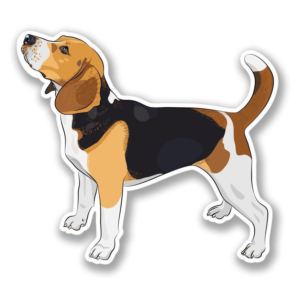 2 X Beagle Dog Luggage Vinyl Sticker 4122 In 2020 Beagle Dog