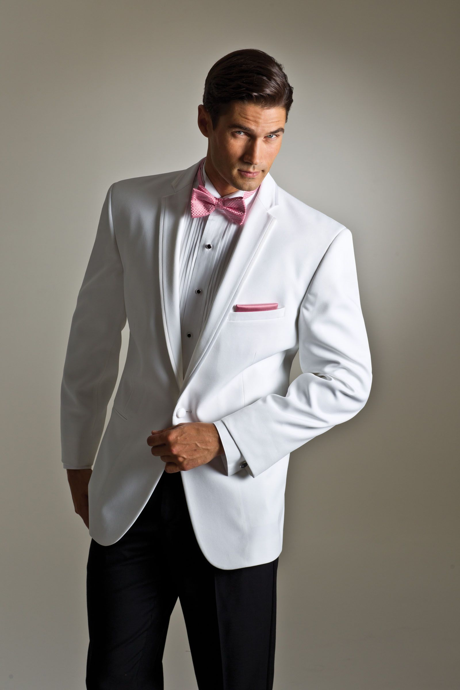Perfect tuxedo for a retro wedding White Kristoff by Savvi Black ...