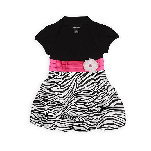 Sears Baby Clothes Amy's Closet Toddler Girl's Bubble Dress  Zebra Print  Sears