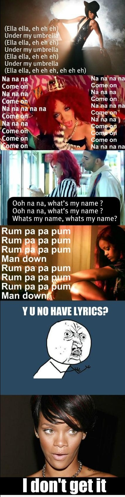Lyric love rihanna lyrics : Rihanna Lyrics - what a poet! | Haha Funny Funny | Pinterest ...