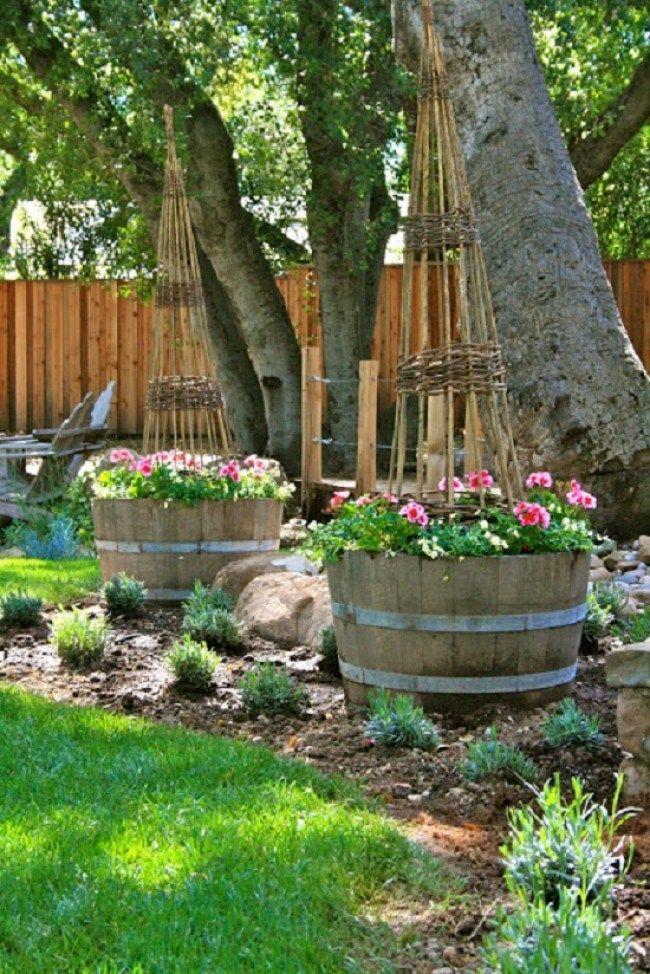 Intelligente und kreative DIY Ideen aus alten Weinfässern für den Garten #gartenrecycling