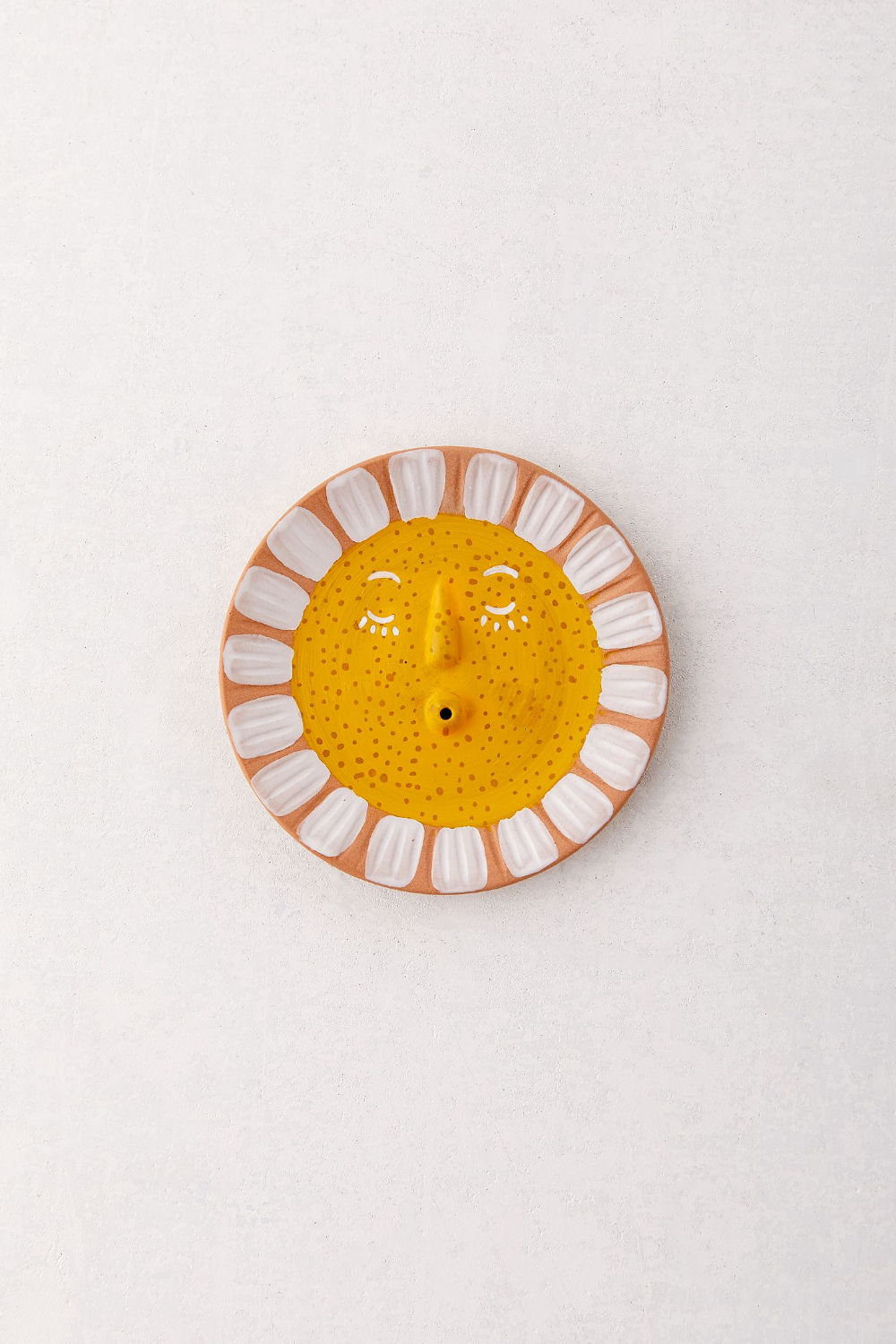 yellow /& blue clay incense holder dish