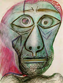 Picasso self-portrait 1972 | Picasso self portrait ...