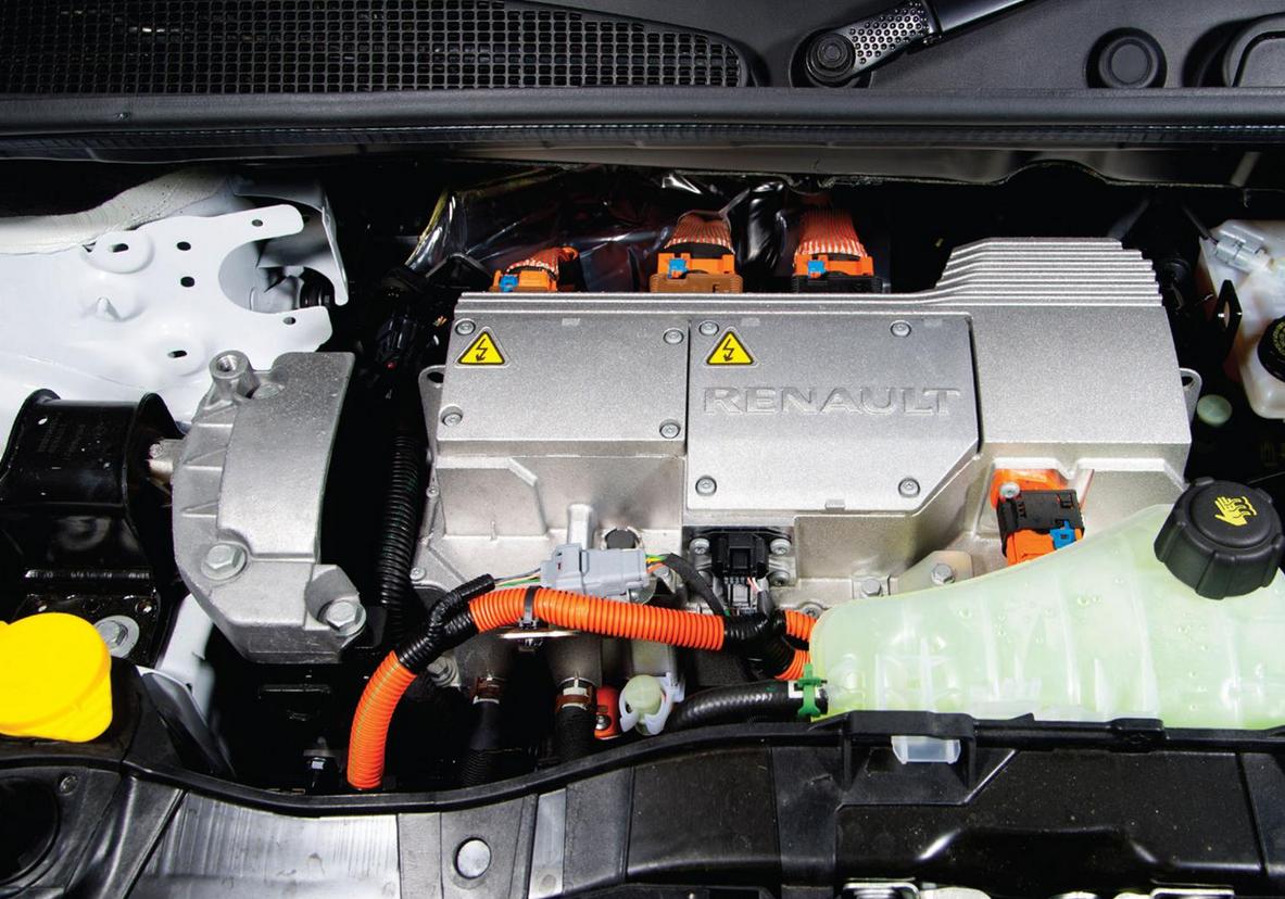 The engine inside the electric #Renault #Kangoo van | Renault Kangoo