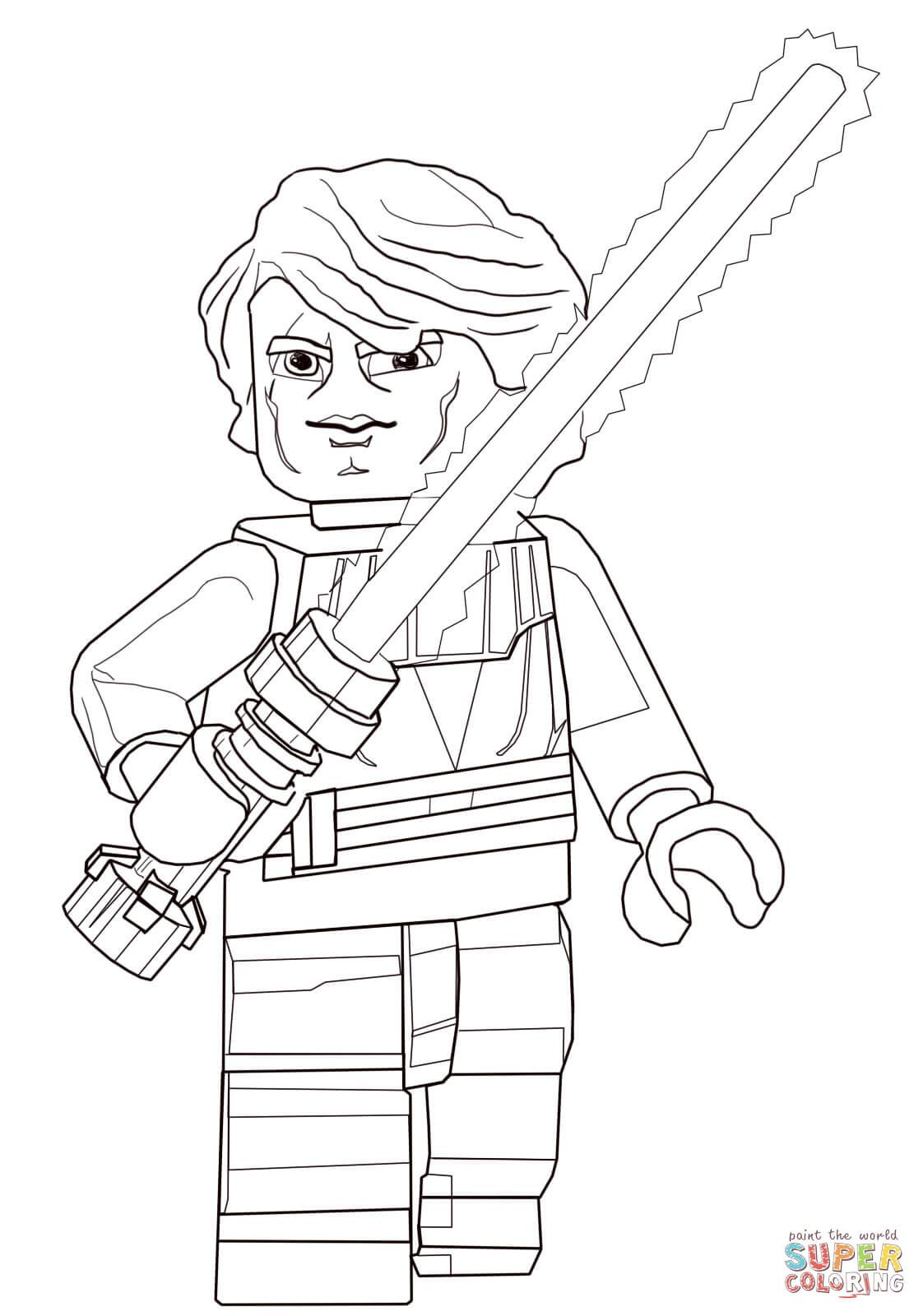 Lego Star Wars Anakin Skywalker | Super Coloring | LineArt: Star ...