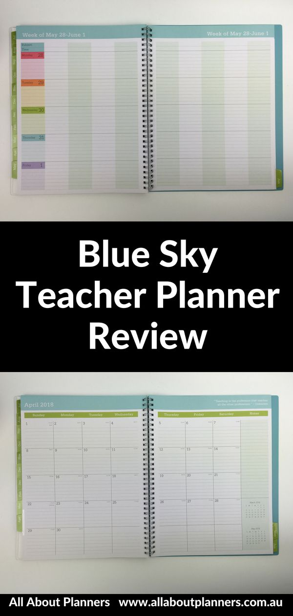 Blue Sky Teacher Planner Review Pros And Cons Video Rainbow Academic Year Cheaper Alternative To Erin Condren Teacher Planner