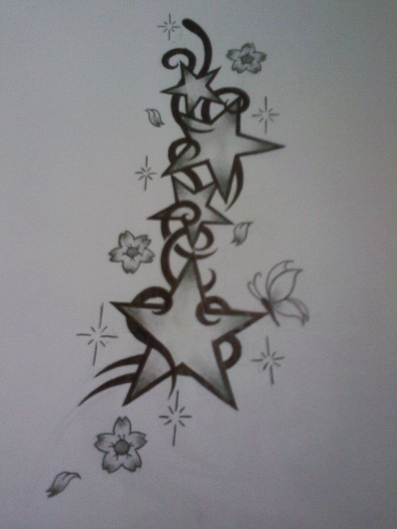 star tattoos with names star tattoo design by