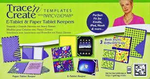 Image result for Clover Trace n Create E-Tablet &Paper Tablet Keepers Template with Nancy Zieman