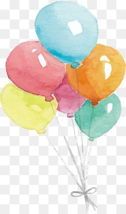 Watercolor Balloons Watercolor Clipart Hand Painted