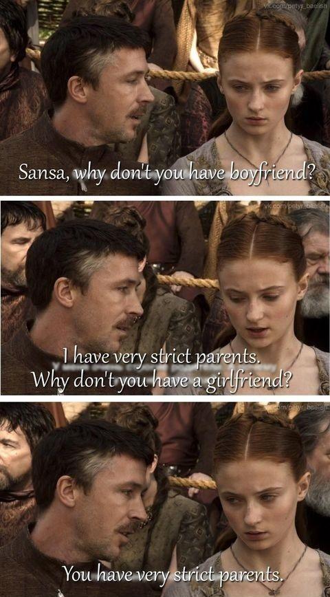 Sansa Stark vs Petyr Baelish