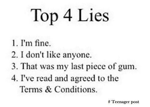 Top 4 Lies True Quotes Funny Quotes Quotes