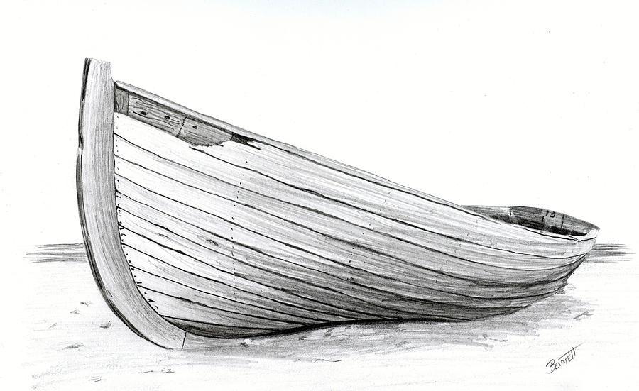 лодка картинка карандашом кладут начинку