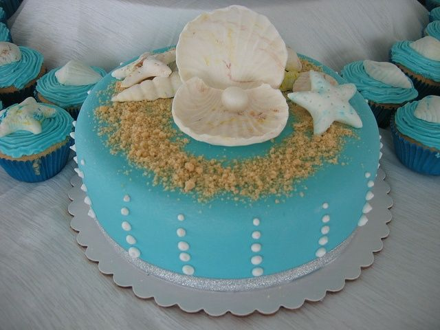 Baby Shower Cakes Beach Theme ~ Pinterest beach wedding centerpieces pin pin baby beach theme