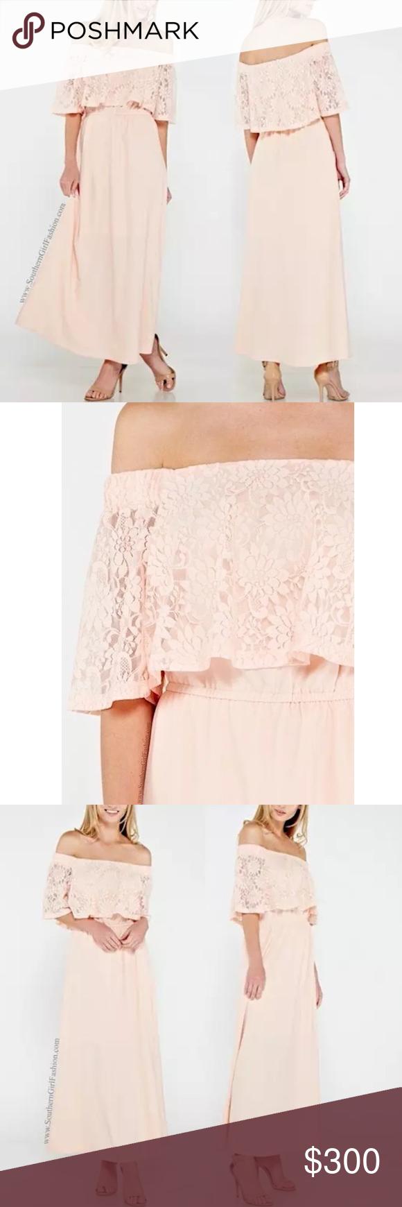 M boutique lace dress  FLORAL MAXI Off the Shoulder Long Draped Lace Gown Boutique  Busted