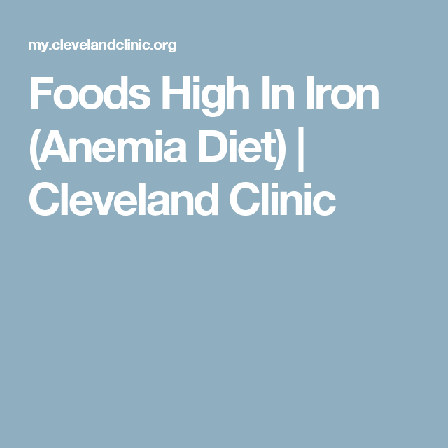 Foods High In Iron (Anemia Diet) | Cleveland Clinic