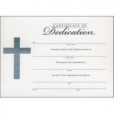 Child Dedication Certificate Baby Dedication Certificate