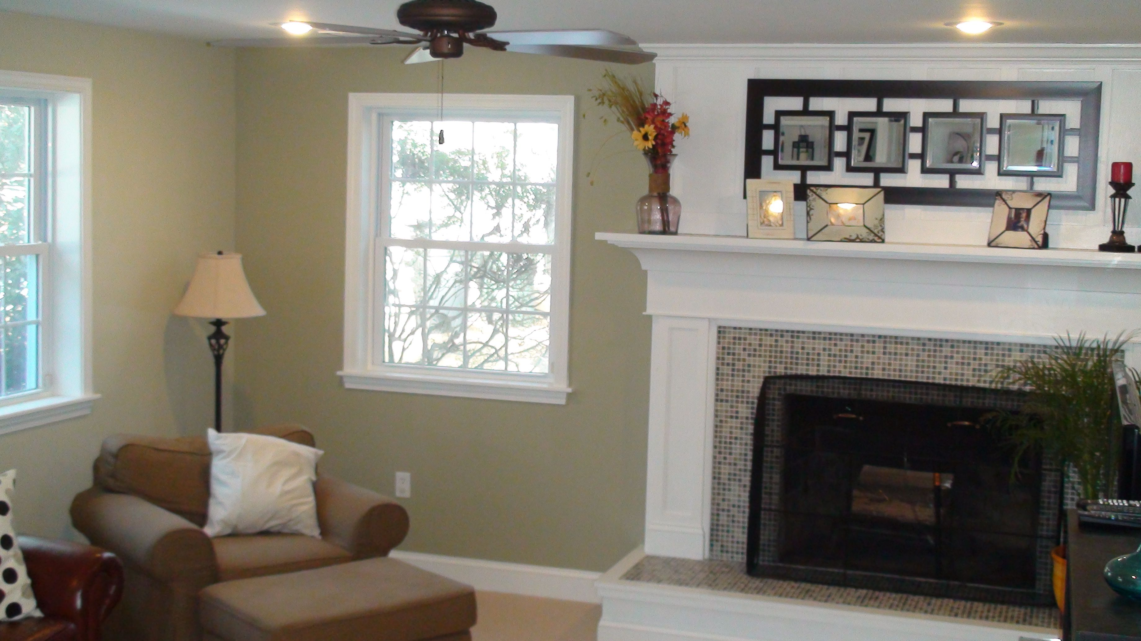 Sherwin Williams Ancient Marble - bedroom, beige with a hint of green.