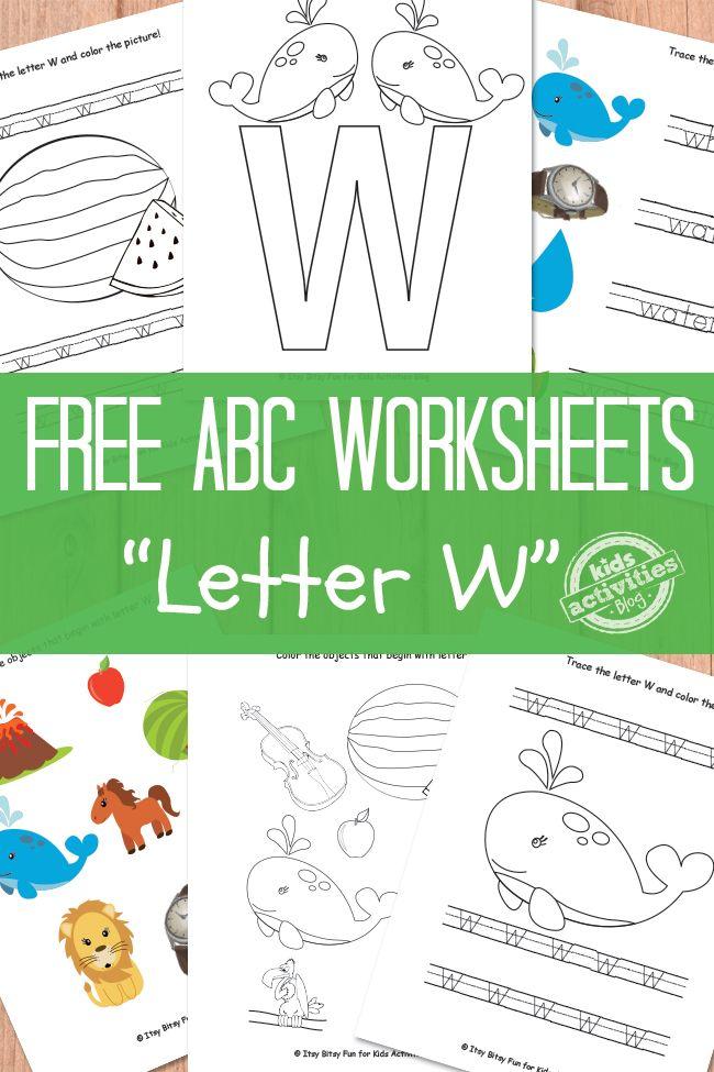 Letter W Worksheets Free Kids Printable Kids Activities Blog Letter W Activities Letter W Worksheets Preschool Letters Printable letter w worksheets for