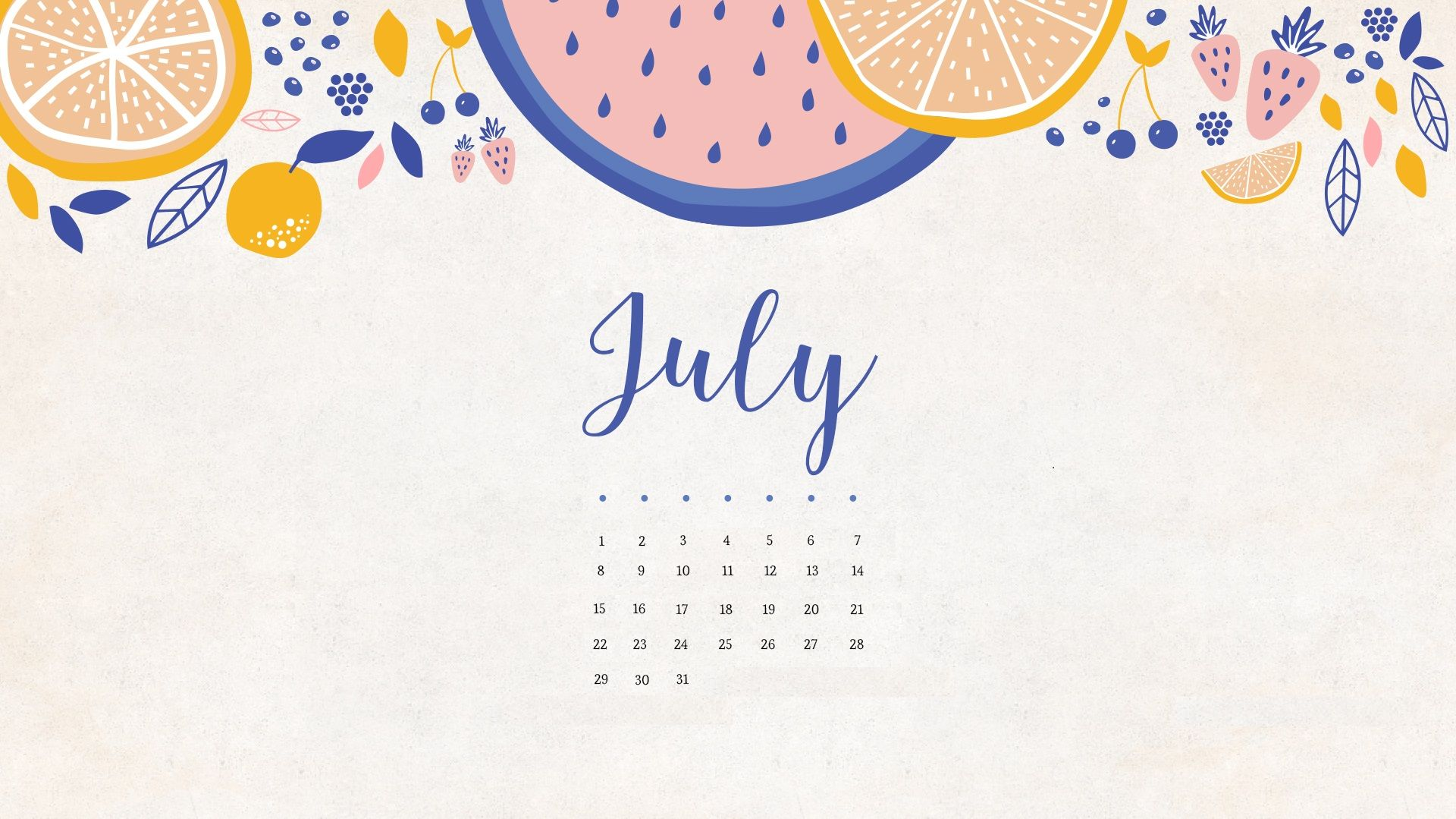 Calendar Wallpaper Originals : July calendar hd wallpapers