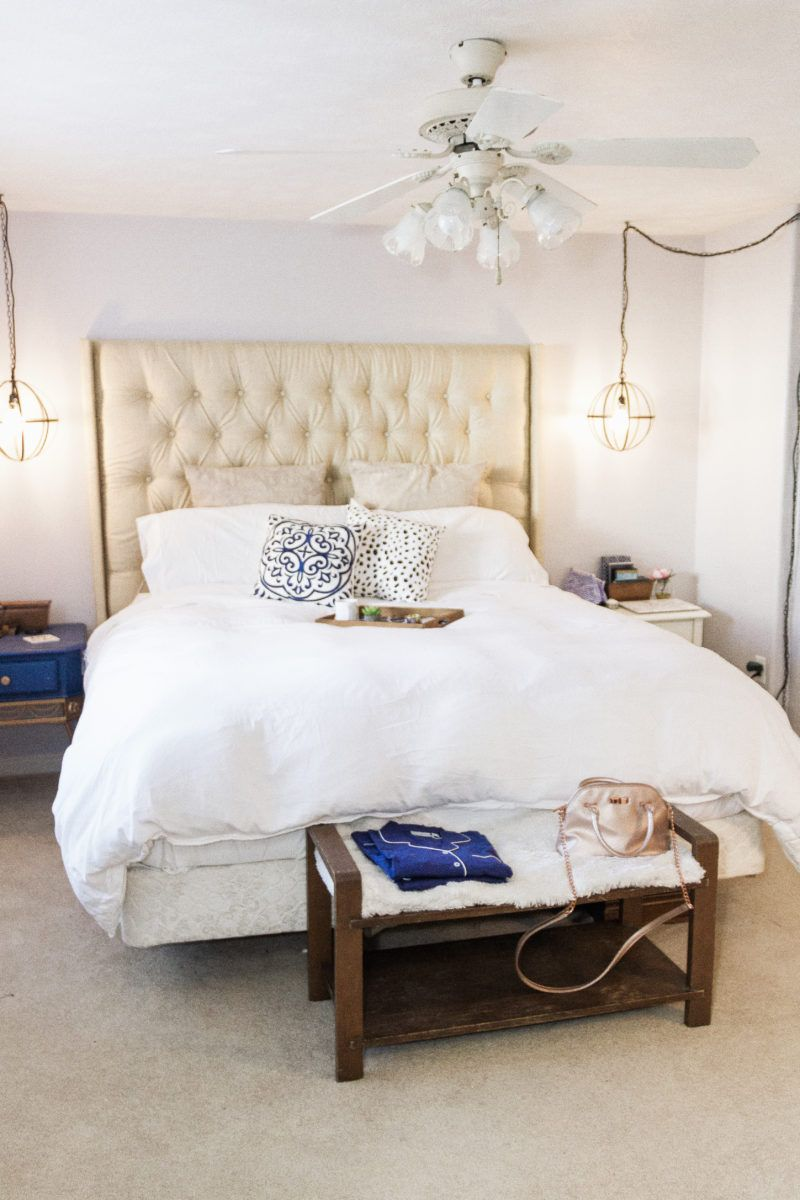 DIY-Tufted-Headboard-Navy-Copper-Bedroom-Makeover-19