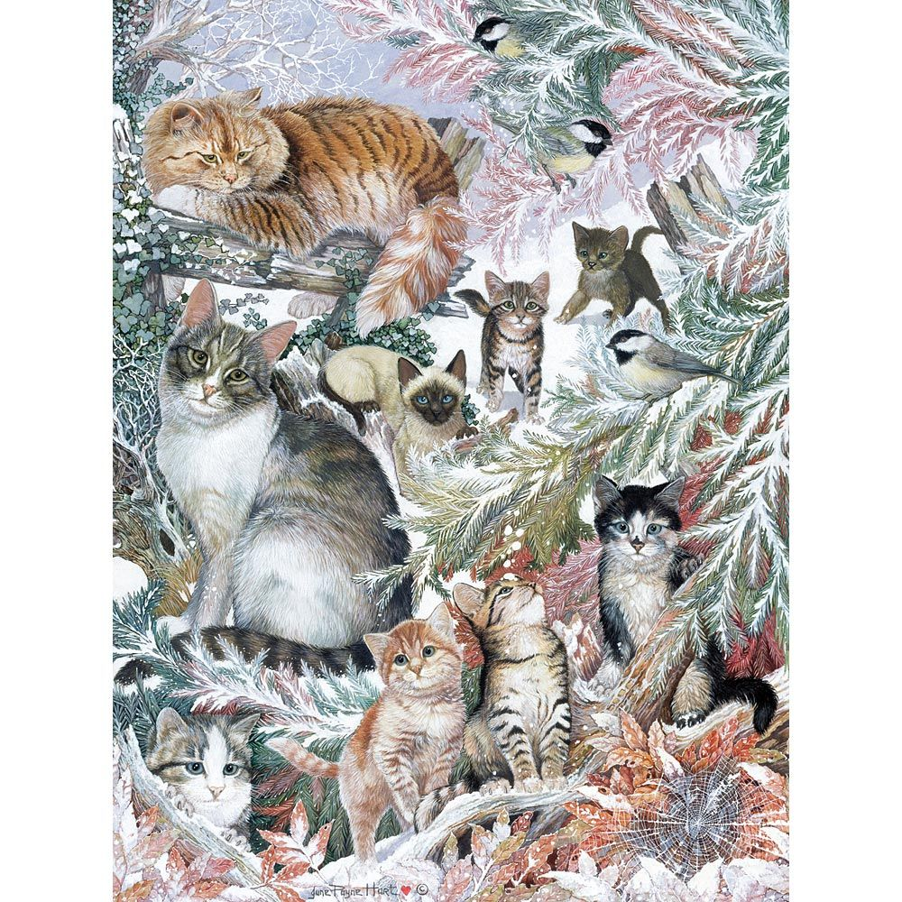 Winter Cats 300 Large Piece Jigsaw Puzzle 猫