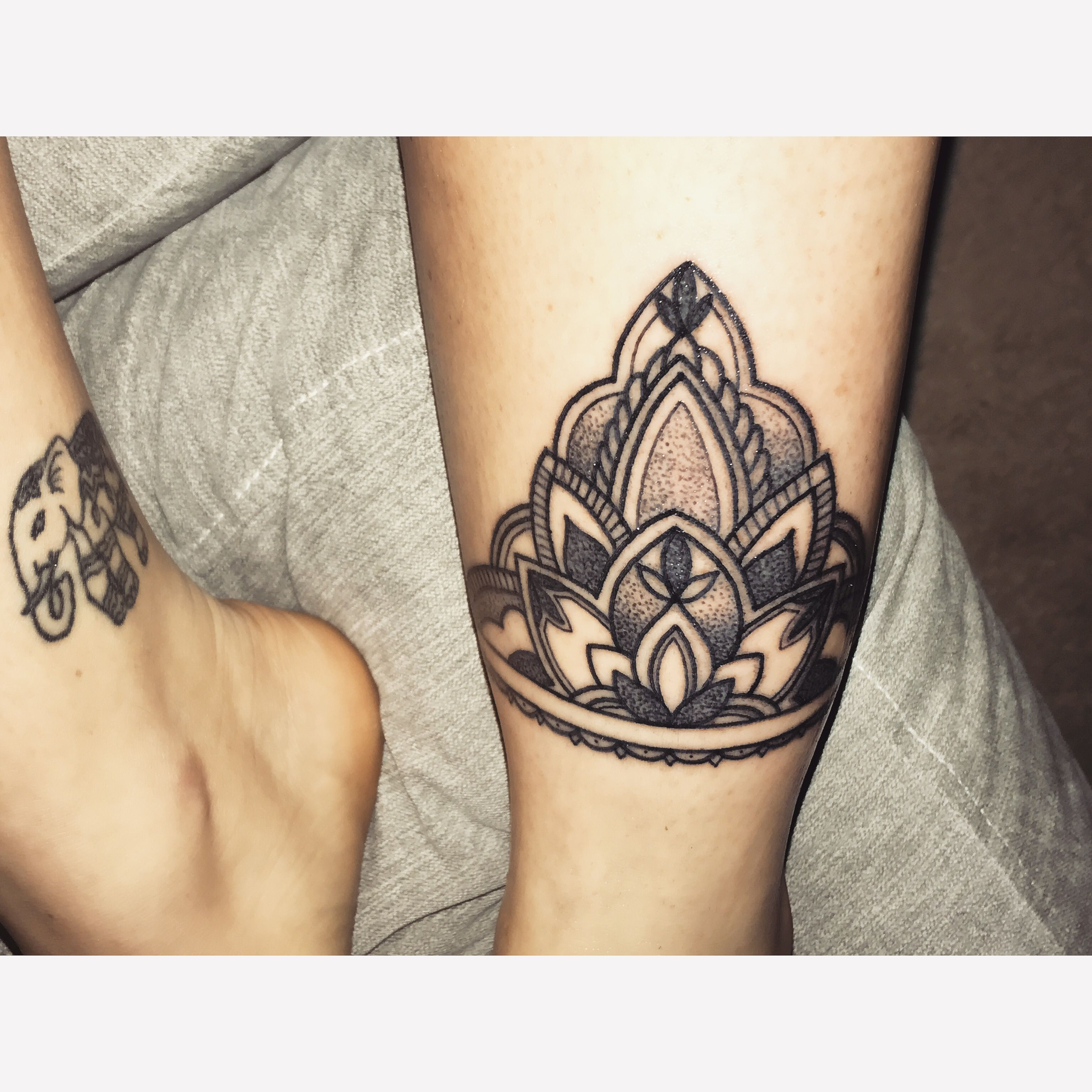 bedff47b9 Mandala ankle cuff done at Hammersmith tattoo by Alex ❤ #mandala #ankle # tattoo #dotwork