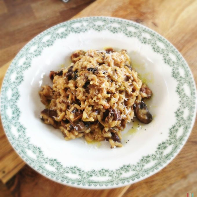 Mushroom risotto simply italian michela chiappa pinterest love this mushroom risotto recipe from michela chiappas forumfinder Image collections