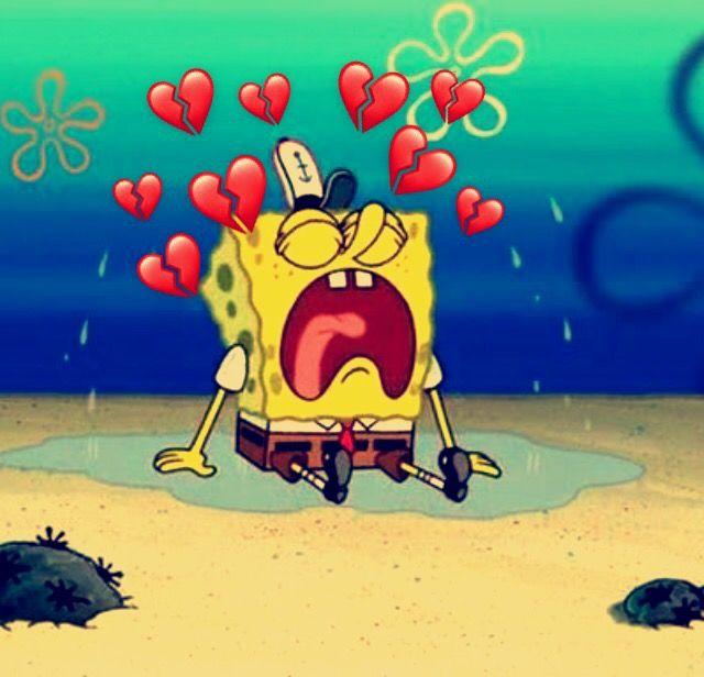 Sad spongebob Aesthetic Cute cartoon wallpapers