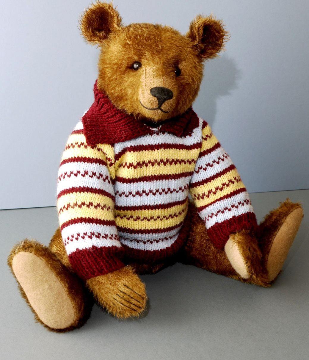 Bear In A Sweater 17 Inch Classic Teddy Bear