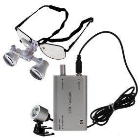 Stunning  x Dental Surgical Binocular Loupes LED Head Light