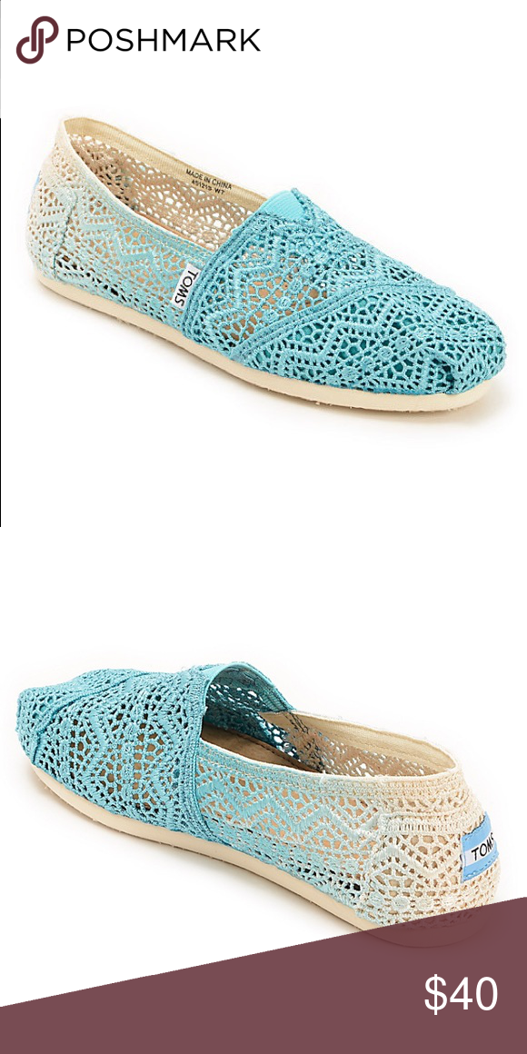 b1475de0615 Toms Baltic Dip Dyed Crochet Womens Slip On Shoes Perfect condition blue tie  dye Toms. Never worn. Toms Shoes