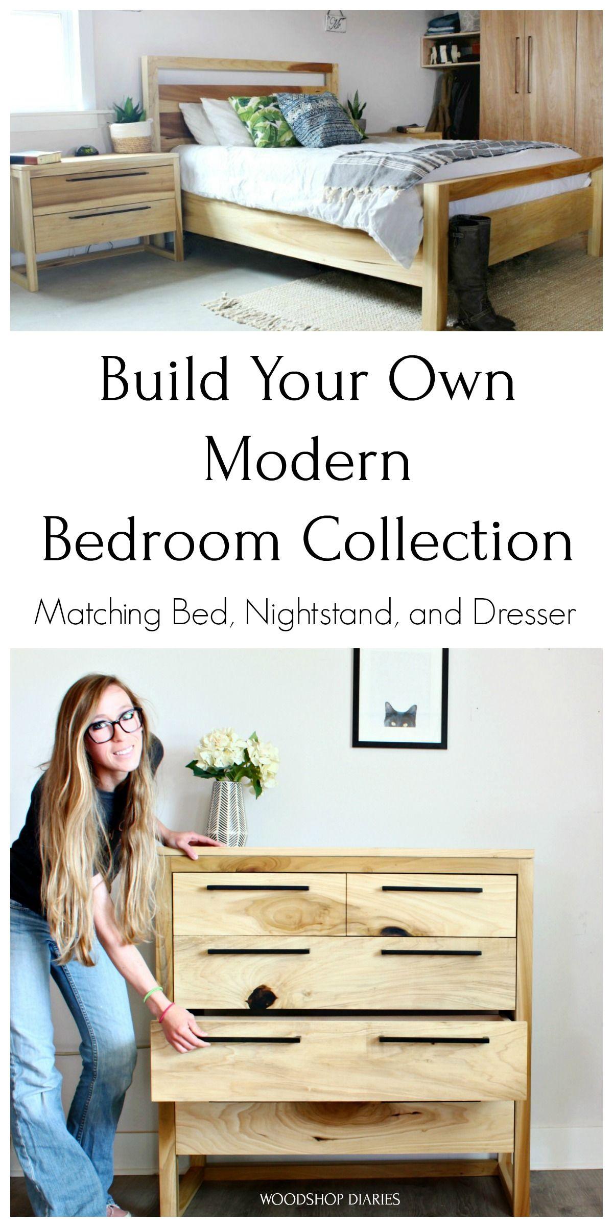 Diy Matching Bedroom Set Diy Modern Bed Modern Bedroom Set Diy Furniture Plans