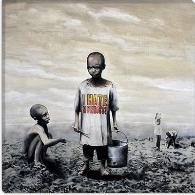 I Hate Mondays by Banksy Canvas Print - iCanvasART.com