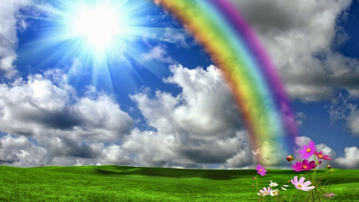 Beautiful Rainbow Shining Sun Nature Hd Wallpapers With Images