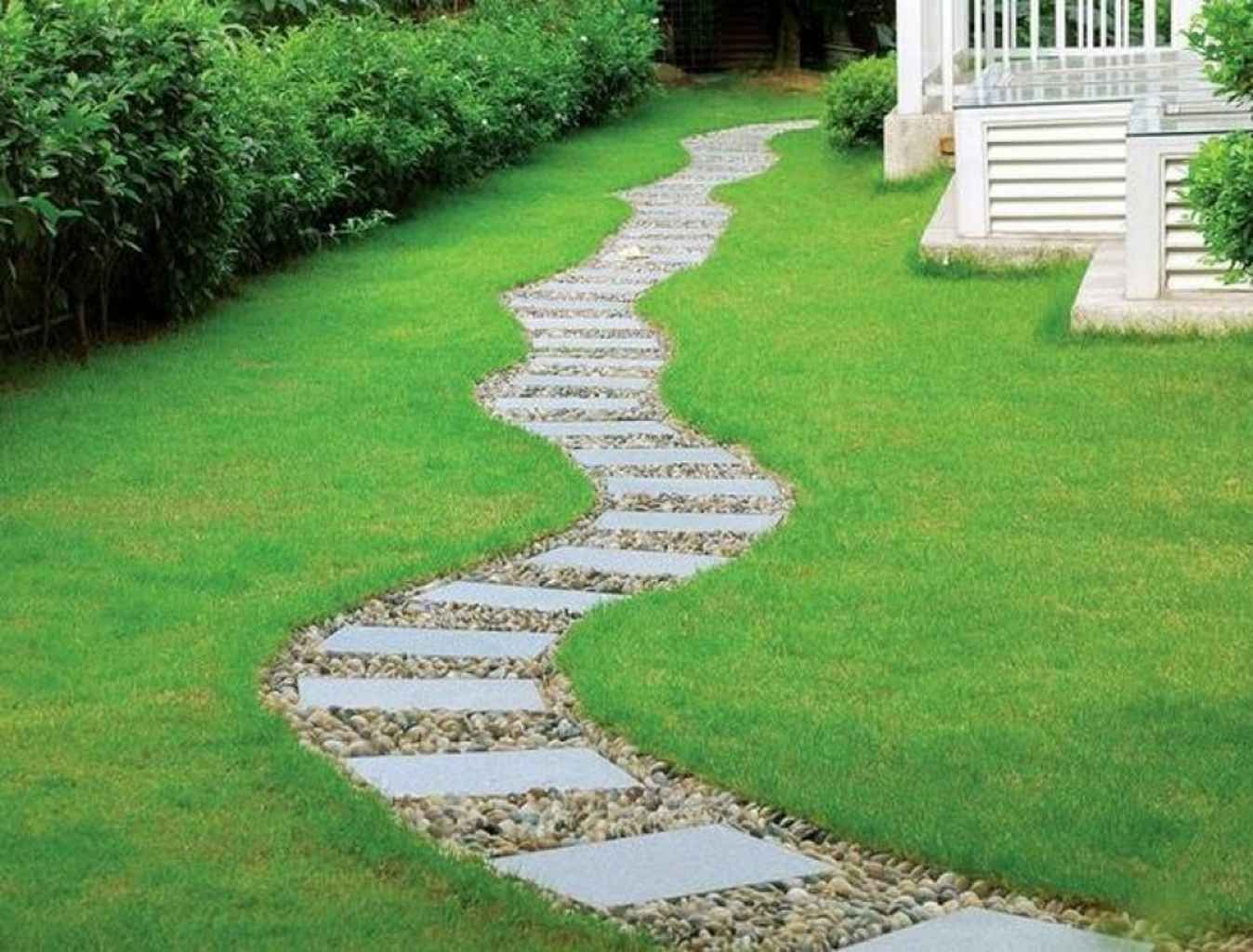 55 Backyard And Front Yard Pathway And Stepping Stone Walkway