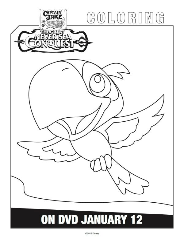 Disney Captain Jake And The Neverland Pirates Skully Coloring Page Mama Likes This Coloring Pages Skully Color