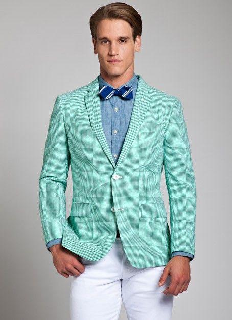 Green Gingham Seersucker Suit for Men Bonobos