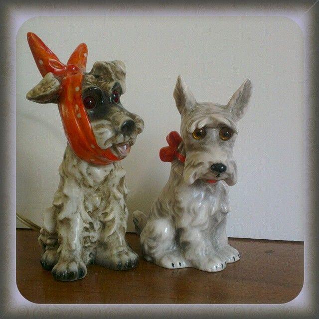 Perfume Lamps By Goebel West Germany #perfumelamp #Goebel #terriër #dogs  #ceramic. Keramik LampenNachtlichtHundeParfümDeutschland