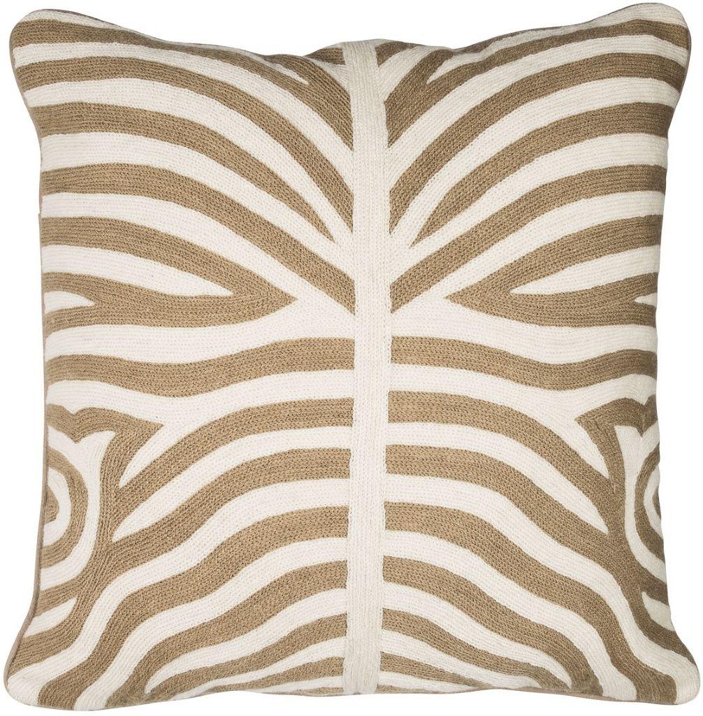 Broderat kuddfodral med zebramönster i beige. Finns att köpa hos Longcoast  Living. Beställ i 01dbdaa8ea0fd