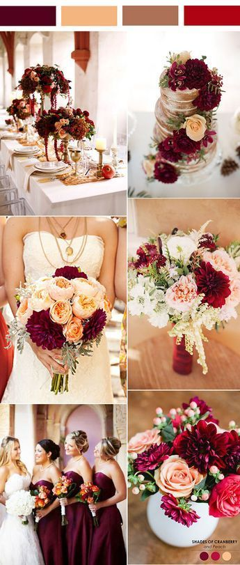35 inspiring burgundy and peach wedding ideas for 2017 junglespirit Images