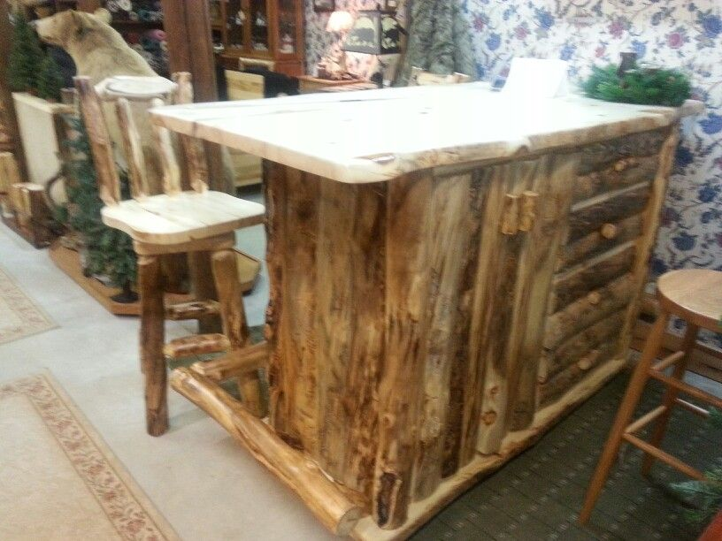 Beautiful Rustic Hickory Bar Set At Bears In The Woods Amish Furniture Store In Cedar  Springs MICHIGAN