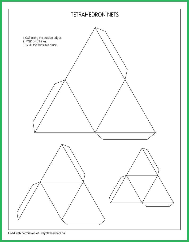 Tetrahedron_Nets | Art Crayola downloads | Pinterest | Colored ...