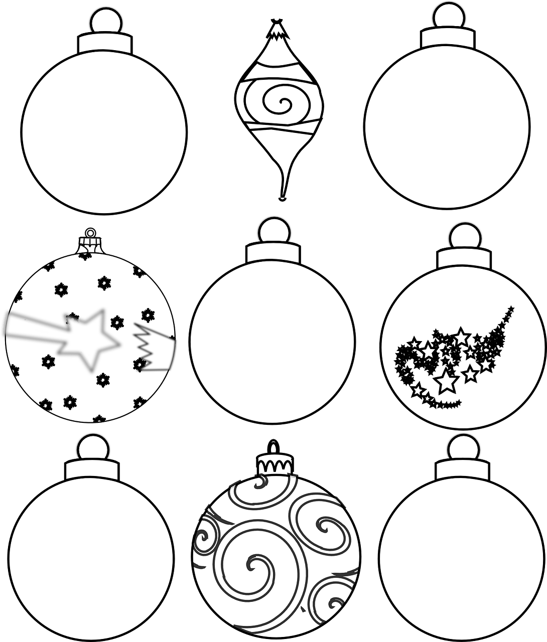 Colour and Design your own Christmas Ornaments Printables   In The ...
