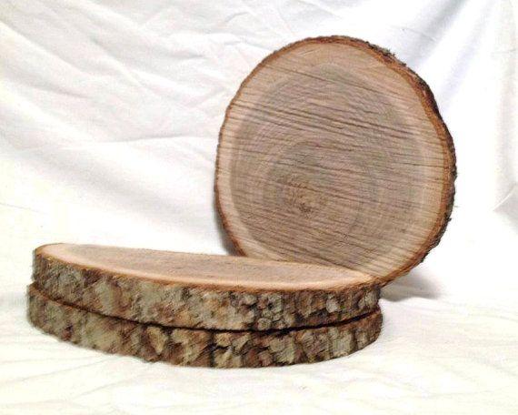 12 Wood Slices 9 To 10 Rustic Wedding Centerpieces Wood Slice Wood Slabs Wood Chargers Tree Slice Log Slices Wood Slices Bulk With Images Rustic Fall Decor Wood Slice Centerpieces Rustic Holiday Decor