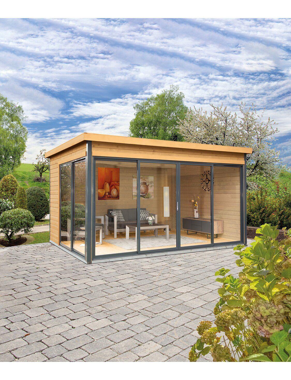 Wolff Finnhaus Holz Gartenhaus Studio 44 D Unbehandelt Bxt 438 Cm X 342 Cm Kaufen Bei Obi Gartenhaus Haus Studio